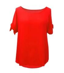 Czerwona szyfonowa bluzka - LARISS