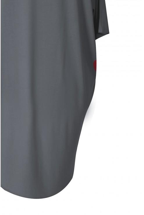 Grafitowa bluzka z dłuższym tyłem NIKI