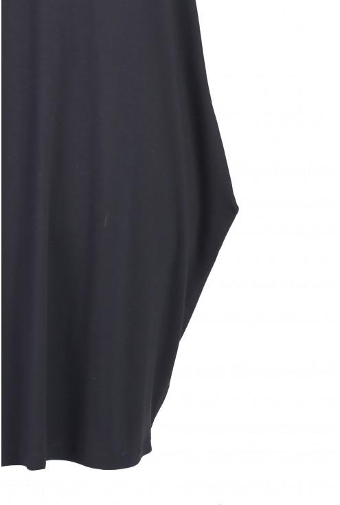 Czarna tunika / sukienka z krzyżykiem na plecach GLORIA