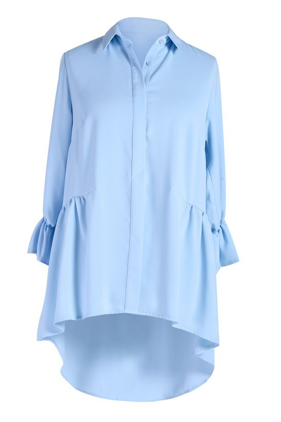 43095a80003d Jasno niebieska koszula damska ANNABEL - rękaw 3 4