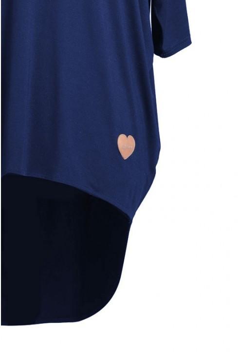 Granatowa bluzka z dłuższym tyłem NIKI