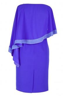 Chabrowa sukienka z szyfonową narzutką ABIGAIL