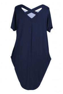Granatowa tunika / sukienka z krzyżykiem na plecach GLORIA