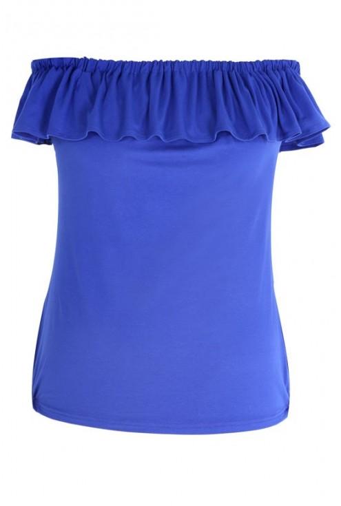 CHABROWA dzianinowa bluzka hiszpanka - LEILA