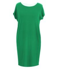 Prosta zielona sukienka z kokardą IZABELA