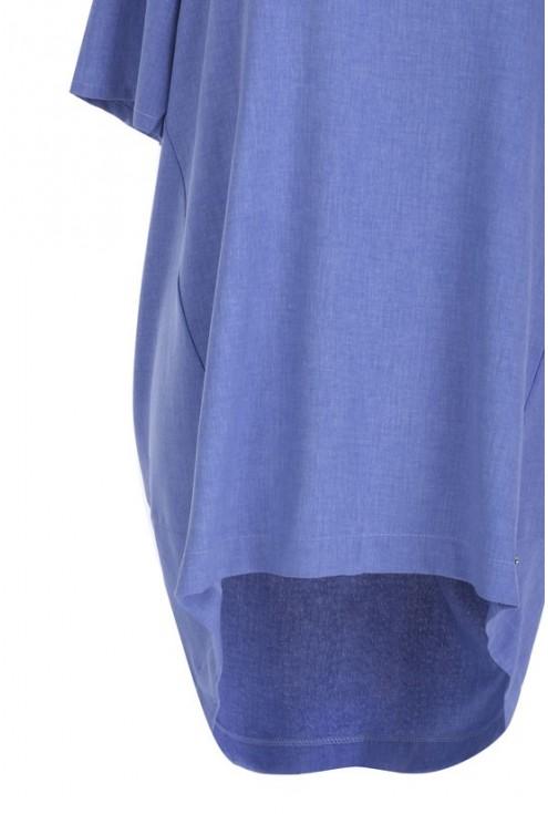 Tunika ściągana na plecach ADELINE - kolor jeansowy