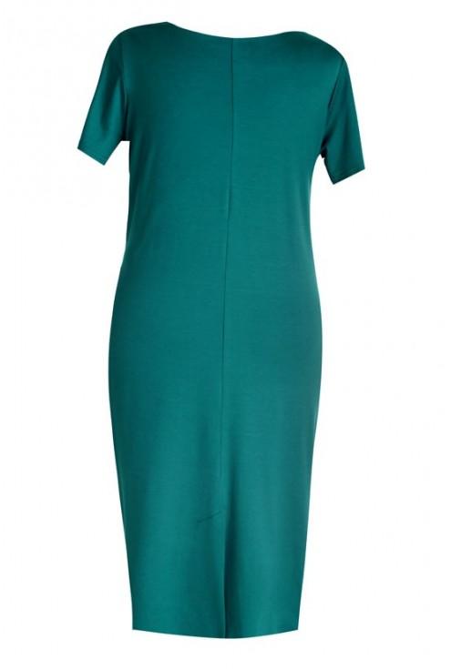 Sukienka z marszczeniem OLIVIA - butelkowa zieleń