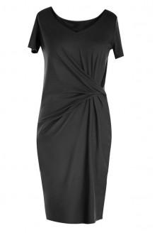 Sukienka z marszczeniem OLIVIA - czarna