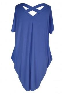 Jeansowa tunika / sukienka z krzyżykiem na plecach GLORIA