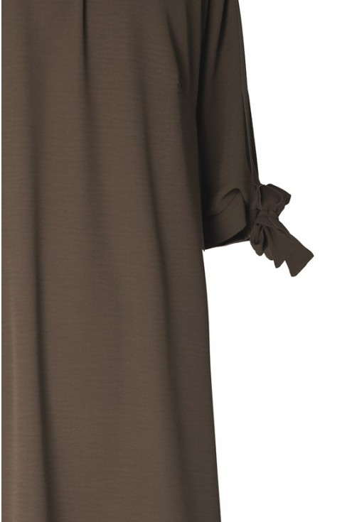 Oliwkowa sukienka hiszpanka – MARITA