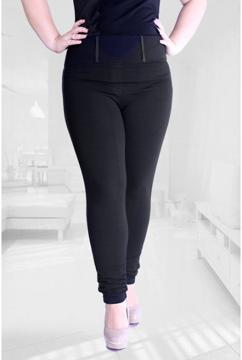 CZARNE legginsy z wysmuklającym paskiem – WYSOKI STAN ALICE