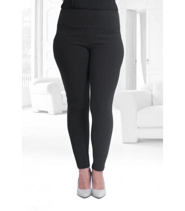 POLSKIE czarne legginsy z pionowym prążkiem PUSH-UP – NOREEN
