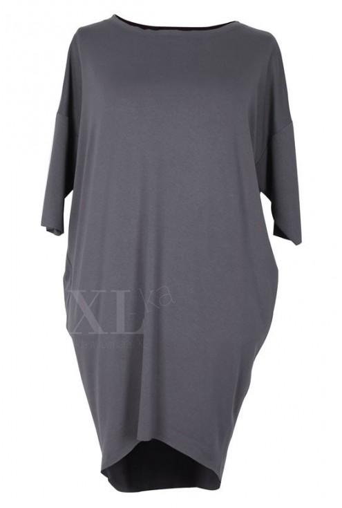 Grafitowa sukienka oversize SUSAN