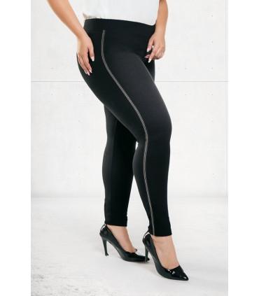 Czarne legginsy z cienkim lampasem NADIA 2