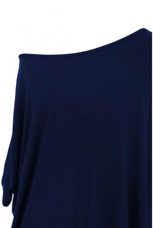 Granatowa bluzka oversize DAGMARA