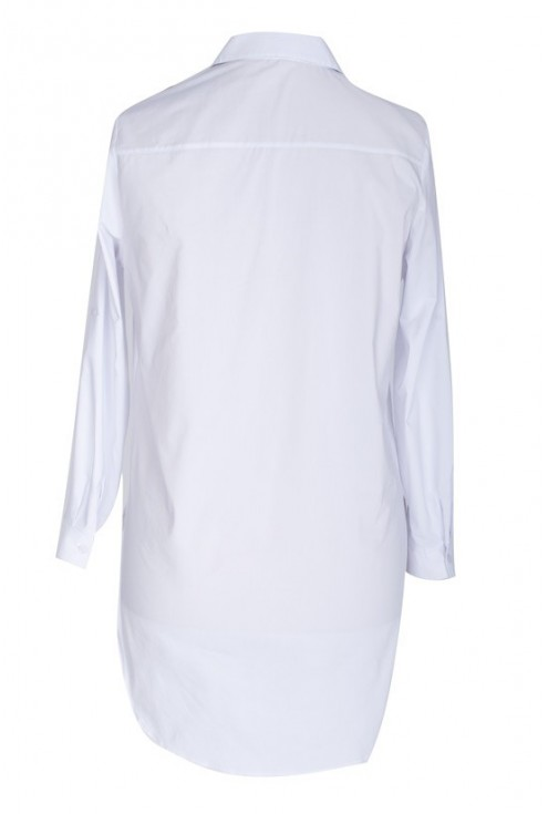 Długa BIAŁA koszula-tunika - SHEILA