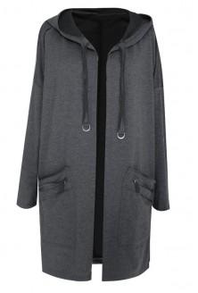 GRAFITOWA narzutka / bluza w dużych rozmiarach - MILA