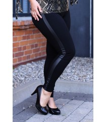 POLSKIE czarne legginsy plus size z wysmuklającym paskiem – WYSOKI STAN ALICE