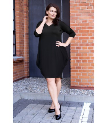 Czarna sukienka plus size CHARLOTTE