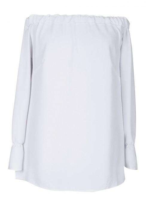 Biała bluzka hiszpanka z długim rękawem ADELINE