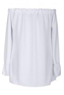 Biała bluzka hiszpanka z długim rękawem MARCELA