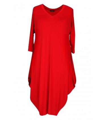 Czerwona sukienka plus size CHARLOTTE