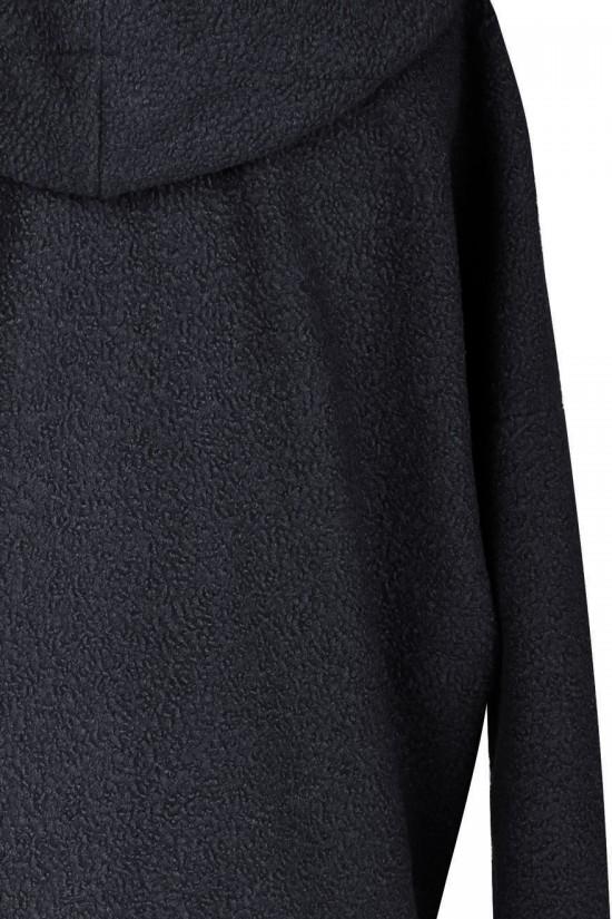 Czarny płaszcz oversize z kapturem TIFFANY Sklep PLUS SIZE