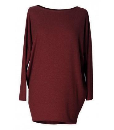 BORDOWA bluzka tunika BASIC (ciepły materiał)