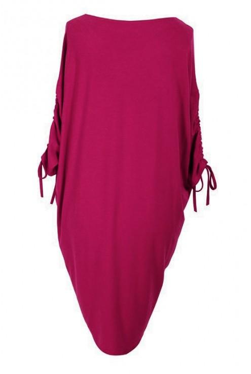 MALINOWA sukienka ze ściąganym rękawem – ESME