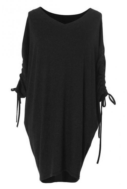 GRAFITOWA sukienka ze ściąganym rękawem – ESME