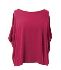 MALINOWA bluzka oversize DAGMARA II (ciepły materiał)