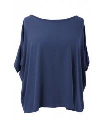 Bluzka oversize DAGMARA II (ciepły materiał) kolor jeansowy