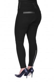 POLSKIE czarne legginsy plus size z suwakami i eko skórą DANIELA