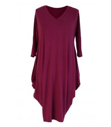 BORDOWO-ŚLIWKOWA sukienka plus size CHARLOTTE II