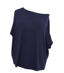 Granatowa bluzka oversize DAGMARA II (ciepły materiał)