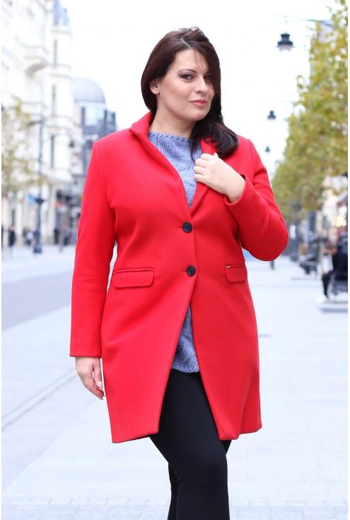 Czerwony klasyczny płaszczyk LENA