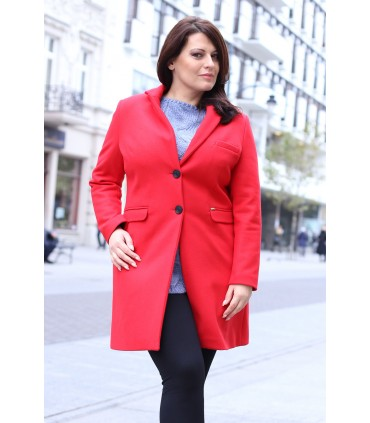Czerwony klasyczny płaszczyk LONDON