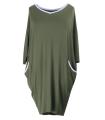 Sukienka z lamówką LILIAN - kolor khaki