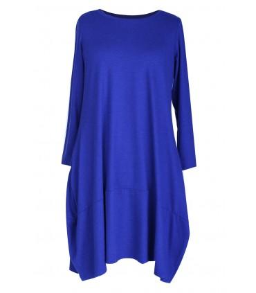 Chabrowa ciepła sukienka HANNAH