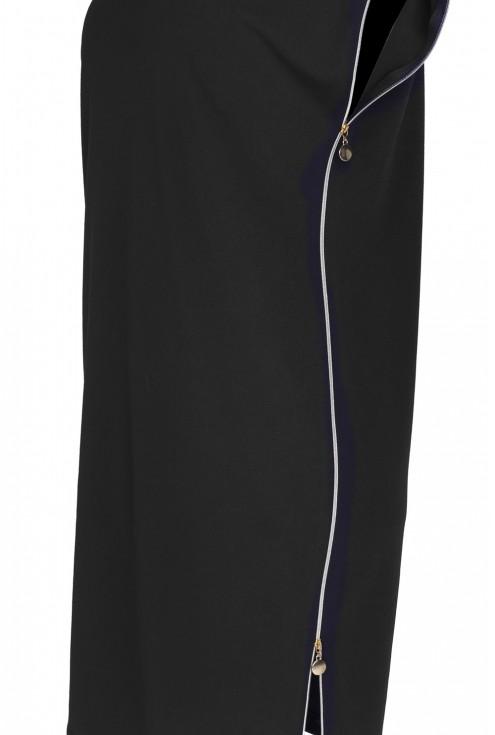 Czarna ołówkowa sukienka z suwakami EDITH