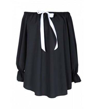 Czarna bluzka damska NINA