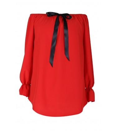 Czerwona bluzka damska NINA