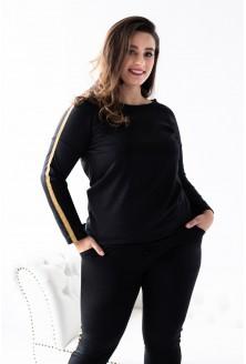 Czarna bluza ze złotym lampasem MOLY