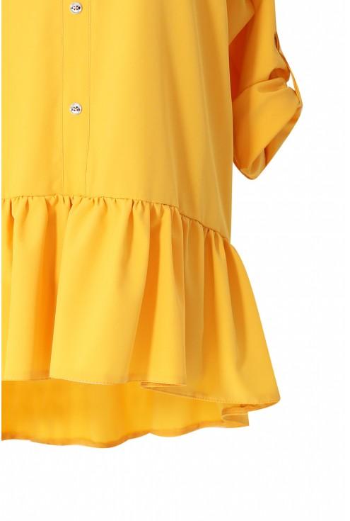 Żółta koszula z falbanką SABRINA