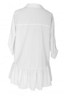 Biała bluzka / koszula z falbanką SABRINA