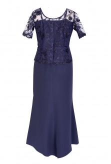 1ffbf78bb0 Granatowa sukienka z koronką FIORELLA Granatowa sukienka z koronką FIORELLA