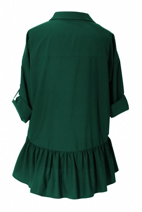 Zielona bluzka / koszula z falbanką SABRINA