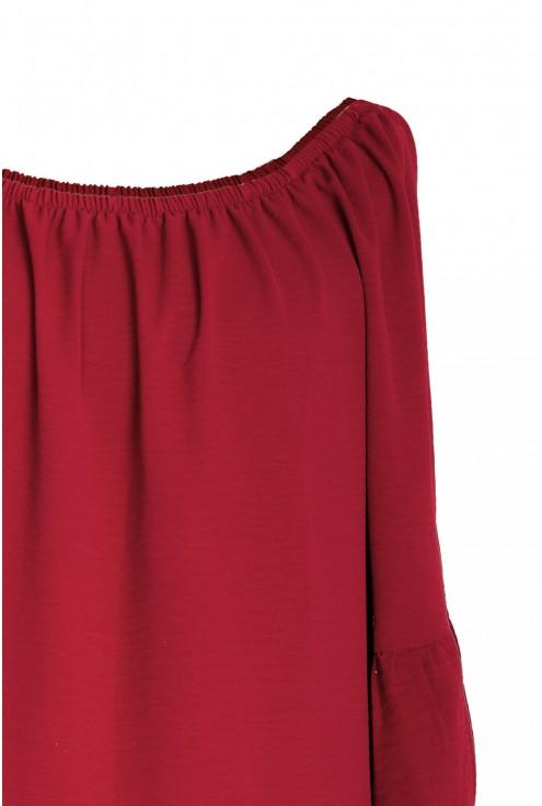 Bordowa bluzka hiszpanka FIORELLA
