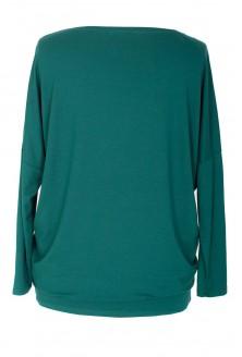 Zielona bluzka tunika z wiskozy BASIC
