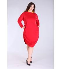 Czerwona sukienka w dużych rozmiarach ZOE 2
